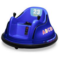 12V Kids Toy Electric Ride On Bumper Car, Dark Blue