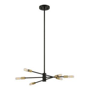 Lyrique 6-Light Chandelier, Bronze With Brass Accents