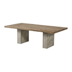 """Modrest Renzo Modern Oak and Concrete Dining Table 94"""""""