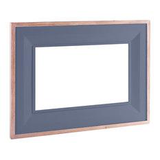 Rectangular Mirror, 80x110 cm, Dark Grey