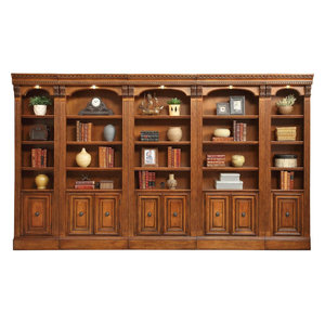 Parker House Huntington 5-Piece Library Wall in Pecan
