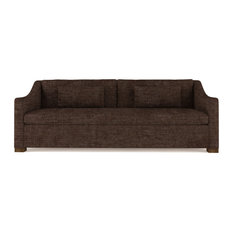 Crosby 8' Crushed Velvet Sofa Chocolate Classic Depth
