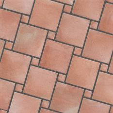 suelo rstico de barro 2pd red salmon baldosas y azulejos para paredes y - Azulejos Rusticos