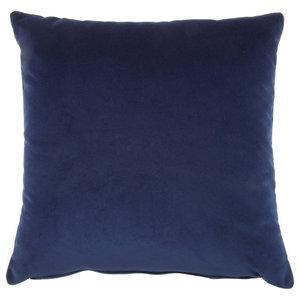 Square Velvet Cushion, Midnight Blue