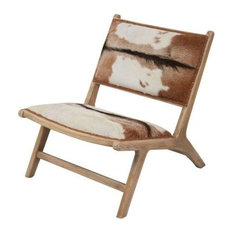 Dimond Home Goatskin Leather Lounger