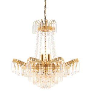 Adagio Elegant Chandelier With Clear Beads and Droplets