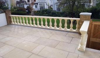 Supply & installation of Steps, Paving & Balustrade.