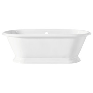 Cheviot Products Sandringham Cast Iron Bathtub With Continuous Rolled Rim