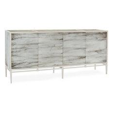 JOHN-RICHARD CARRERA Sideboard Reverse-Painted Glass Marble E