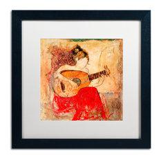 """Joarez 'Vanessa' Framed Art, Black Frame, 16""""x16"""", White Matte"""