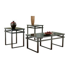 Laney Table Set Coffee Table and 2 End Tables Black by Ashley Furniture Industries