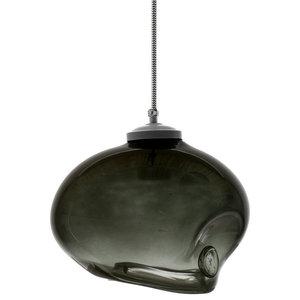 Glass Bowl Pendant Light, Grey