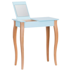 Lilo Small Scandinavian Dressing Table, Pale Turquoise