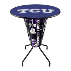 Lighted TCU Pub Table by Holland Bar Stool Company