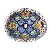 Blue Clover Ceramic Talavera Sink