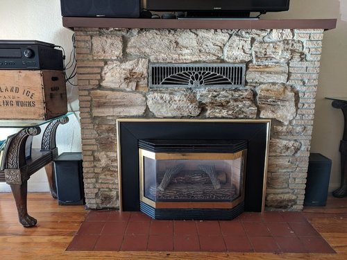 Refacing Stone Fireplace Or Paint, How To Reface A Fireplace With Stone
