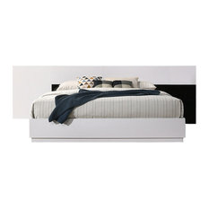 Bahamas Black/ White Platform Contemporary Bed
