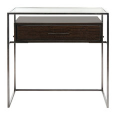 Safavieh - Safavieh Caelan Glass Side Table - Side Tables and End Tables