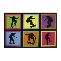 "Skateboarding Fun Area Rug, 39""x58"", 5 lbs."