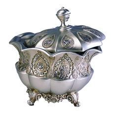 Silver Paisley Jewelry Box