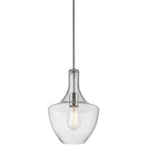 Matteo Lighting Lagynos Colllection Traditional Pendant, Clear Finish