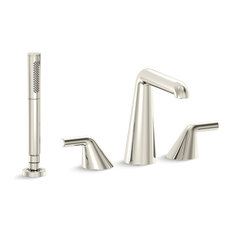 Taper by Bjarke Ingels Deck-Mount Bath Faucet With Diverter