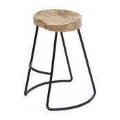 The Urban Port Brand Attractive Wooden Barstool With Iron Legs