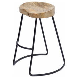 Rustic Bar Stools And Counter Stools by Benzara, Woodland Imprts, The Urban Port