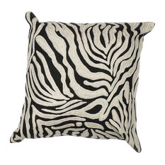 "L119 Zebra Oasis, 18""x18"" Square Pillow"