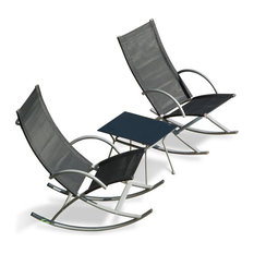 suntime 3piece rocking chairs and table set outdoor rocking chairs