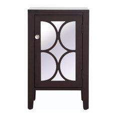 Elegant Modern 18-inch Mirrored Cabinet MF82035DT Dark Walnut