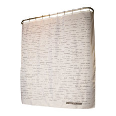 French Vocabulary Shower Curtain