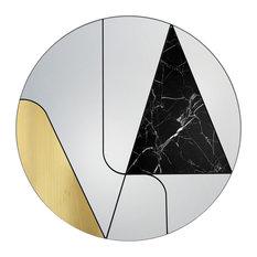 ATLASPROJECT - Itinera Wall Mirror, Black Marble, 80 cm - Wall Mirrors