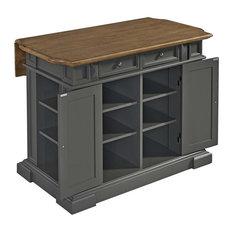 Pemberly Row - Pemberly Row Kitchen Island, Gray - Kitchen Islands and Kitchen Carts