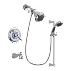 Delta Victorian Chrome Tub and Shower Faucet System With Hand Shower DSP0699V