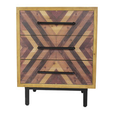 30-inchx23.75-inchx15.75-inch Mdf Brown Contemporary Wooden Cabinet