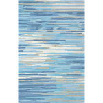Company C - Skye Rug, 5'6X8'6 Blue - See beyond the horizon. Reminiscent of the serenity found in the striations of clouds drifting across the sky, this contemporary design wows. The abstract design offers texture with high to low tufting for a plush feel underfoot. 100% wool, hand-tufted, cut and loop pile. Colors; Natural and Blue.