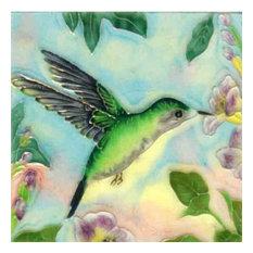 Green Hummingbird Tile