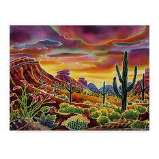 "Harriet Peck Taylor 'Sonoran Desert Glow' Canvas Art, 24""x18"""