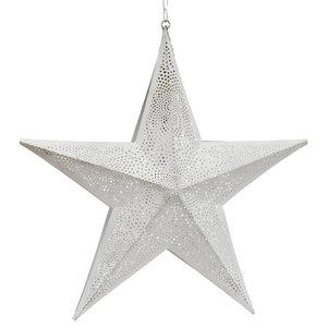 Moroccan Star Pendant Light, White