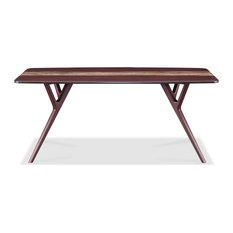 Azara Dining Table w/ Solid Bamboo Legs, Sable