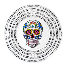 "Sugar Skull Decorative Plate, 10"", Design 2"