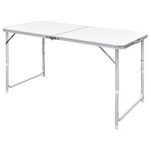 vidaXL Foldable Camping Table Height Adjustable Aluminium, 120x60 cm