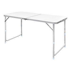 Vidaxl Foldable Camping Table Height Adjustable Aluminium 120x60