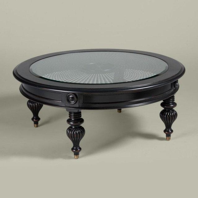 Ethan Allen Oval Glass Top Coffee Table: British Classics Maya Coffee Table