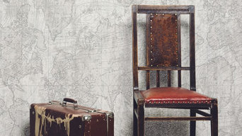 Voyager Platinum Grey Feature Wall Glitter Wallpaper