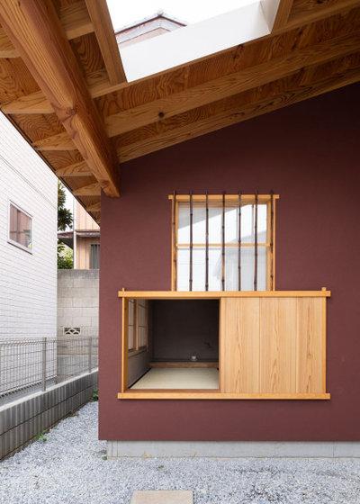 和室・和風 家の外観 by 一級建築士事務所 ikmo