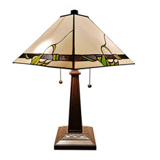 "Amora Lighting Am057Tl14 Tiffany Style Mission Table Lamp 23"""