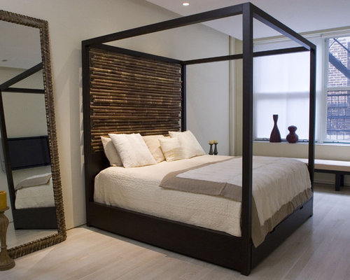Canopy Bed with Hand tied Bamboo Headboards - Canopy Beds & Custom Made Beds