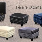 Ferrara Ottoman Transitional Footstools And Ottomans